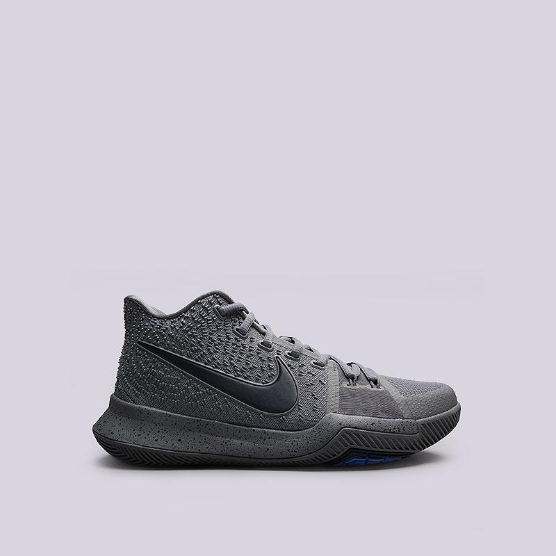 Кроссовки  Nike Kyrie 3Кроссовки баскетбольные<br>Текстиль, пластик, резина<br><br>Цвет: Серый<br>Размеры US: 7.5;8<br>Пол: Мужской
