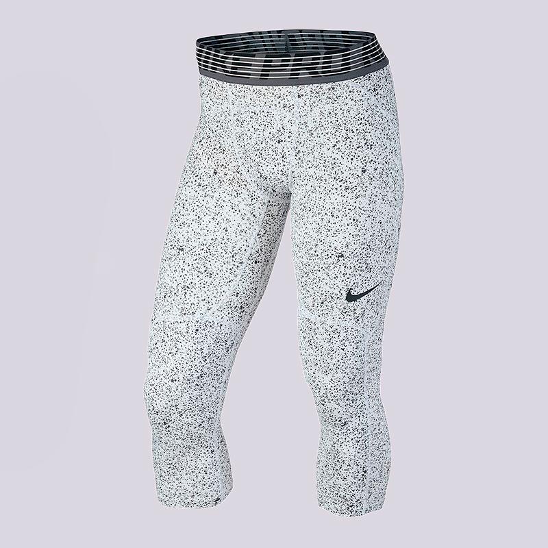Брюки Nike Pro Hypercool 3/4 TightsКомпрессионное белье<br>полиэстер, эластан<br><br>Цвет: Белый<br>Размеры US: 2XL<br>Пол: Мужской