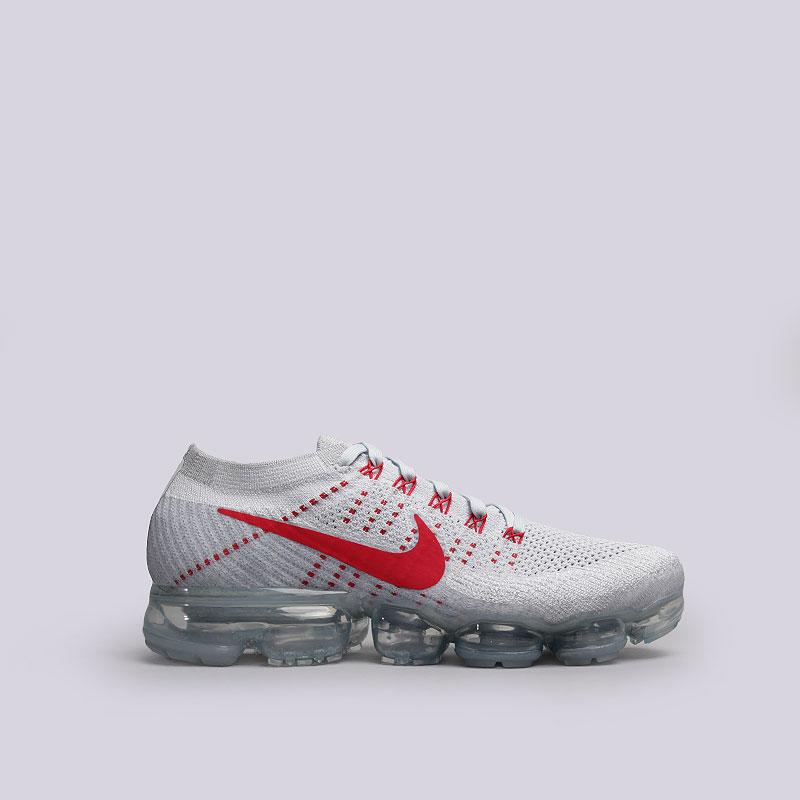 Кроссовки  Nike Sportswear Air Vapormax FlyknitКроссовки lifestyle<br>Текстиль, пластик, резина<br><br>Цвет: Голубой, красный<br>Размеры US: 8;8.5;10;10.5;11;12<br>Пол: Мужской
