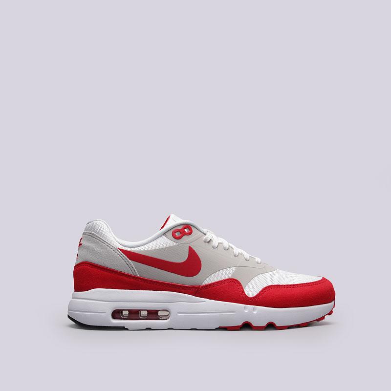 Кроссовки  Nike Sportswear Air Max 1 Ultra 2.0 LEКроссовки lifestyle<br>Текстиль, пластик, резина<br><br>Цвет: Белый, красный<br>Размеры US: 7.5<br>Пол: Мужской