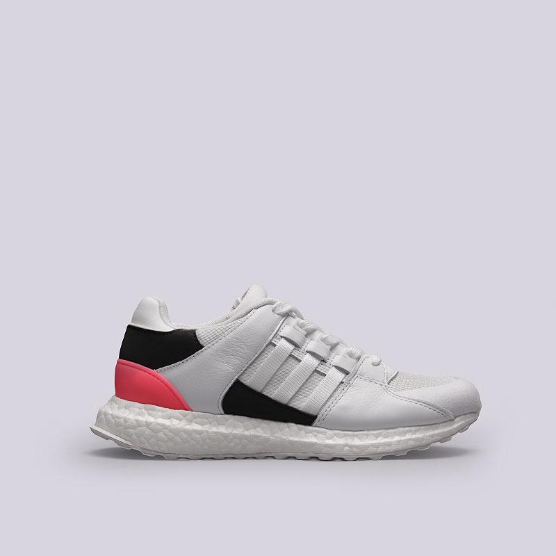 Кроссовки adidas Originals EQT Support UltraКроссовки lifestyle<br>Кожа, текстиль, резина<br><br>Цвет: Белый, черный, розовый<br>Размеры UK: 7.5