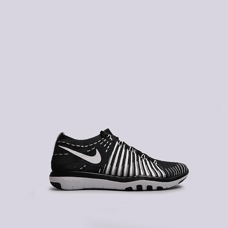 женские черные   кроссовки nike wmns free transform flyknit 833410-010 - цена, описание, фото 1