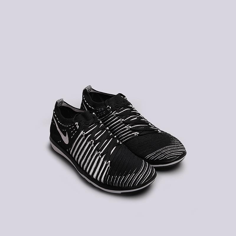 женские черные   кроссовки nike wmns free transform flyknit 833410-010 - цена, описание, фото 2