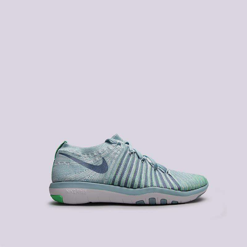 Кроссовки Nike WMNS Free Transform FlyknitКроссовки lifestyle<br>текстиль, резина<br><br>Цвет: Голубой<br>Размеры US: 8.5;9;6.5;7.5<br>Пол: Женский