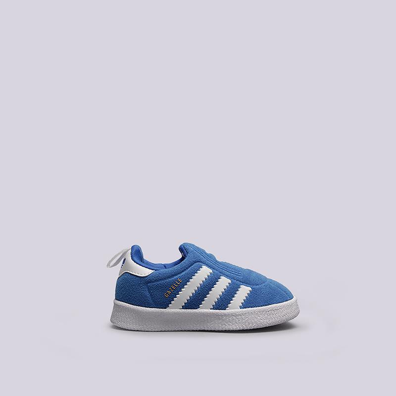 Кроссовки adidas Gazelle 360 IКроссовки lifestyle<br>текстиль, резина<br><br>Цвет: Синий<br>Размеры UK: 19;20;21<br>Пол: Детский