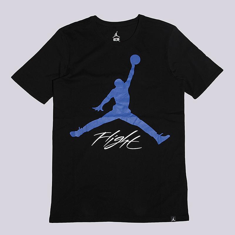 Футболка Jordan JSW Tee AJ4Футболки<br>100% хлопок<br><br>Цвет: Черный<br>Размеры US: L<br>Пол: Мужской