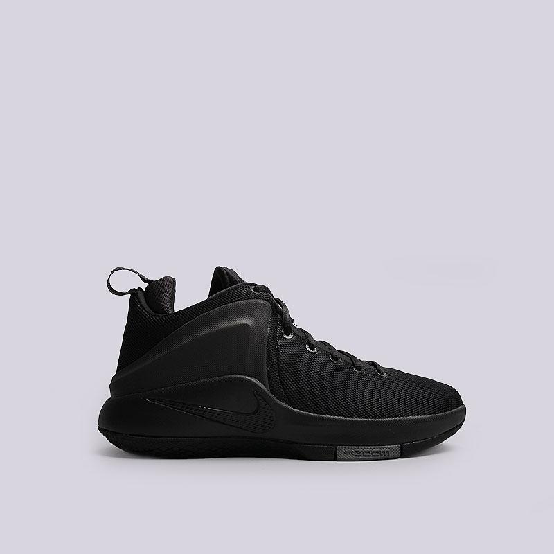 Кроссовки Nike Zoom WitnessКроссовки баскетбольные<br>Текстиль, синтетика, резина<br><br>Цвет: Черный<br>Размеры US: 6;6.5;7;7.5;9;12;12.5<br>Пол: Мужской