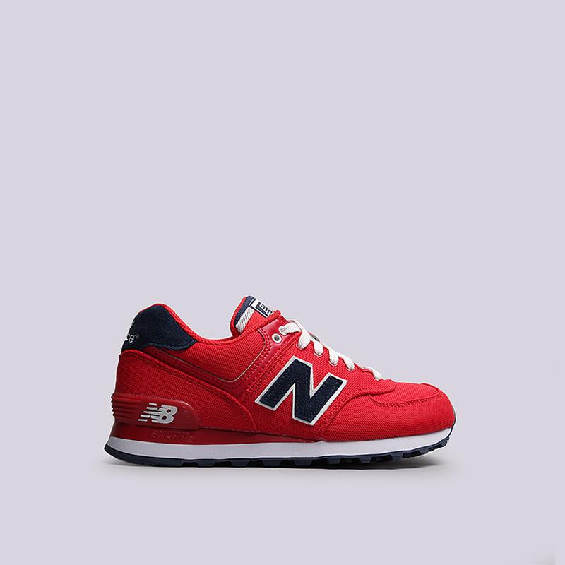 женские красные кроссовки new balance 574 WL574POR B - цена, описание, фото  1 2c90202a5e3