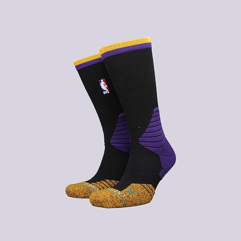 Носки Stance Logo Crew LakersНоски<br>Полиэстер, нейлон, спандекс, хлопок, эластан<br><br>Цвет: Черный<br>Размеры : L<br>Пол: Мужской