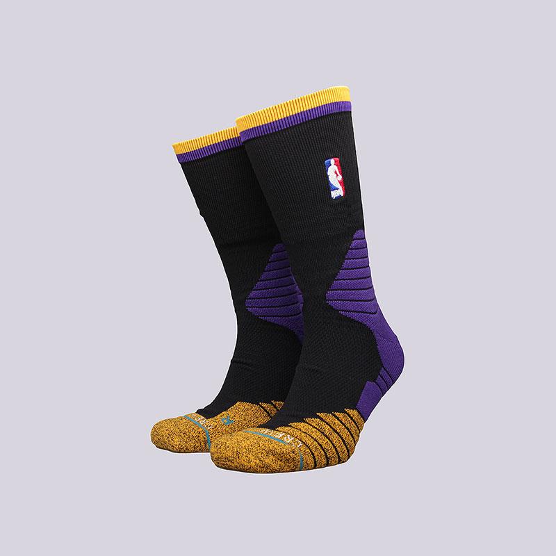 Носки Stance Logo Crew LakersНоски<br>Полиэстер, нейлон, спандекс, хлопок, эластан<br><br>Цвет: Чёрный<br>Размеры : L;XL<br>Пол: Мужской