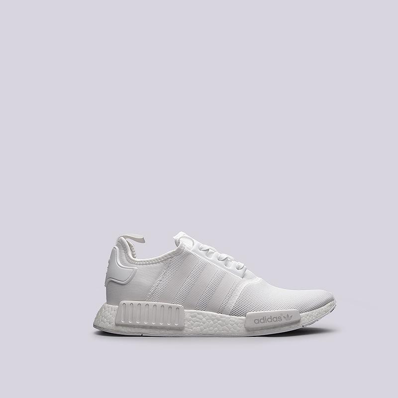 Кроссовки adidas Originals NMD R1Кроссовки lifestyle<br>текстиль, пластик, резина<br><br>Цвет: Белый<br>Размеры UK: 13.5<br>Пол: Мужской