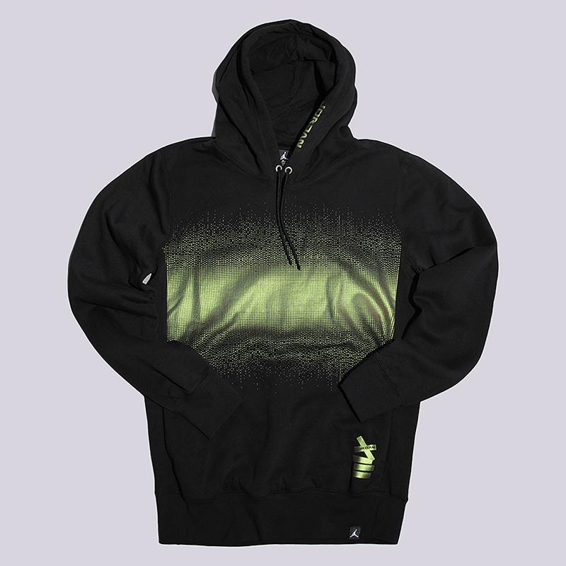 Толстовка Jordan AJ 13 Fleece HoodieТолстовки свитера<br>76% хлопок, 24% полиэстер<br><br>Цвет: Черный<br>Размеры US: M<br>Пол: Мужской
