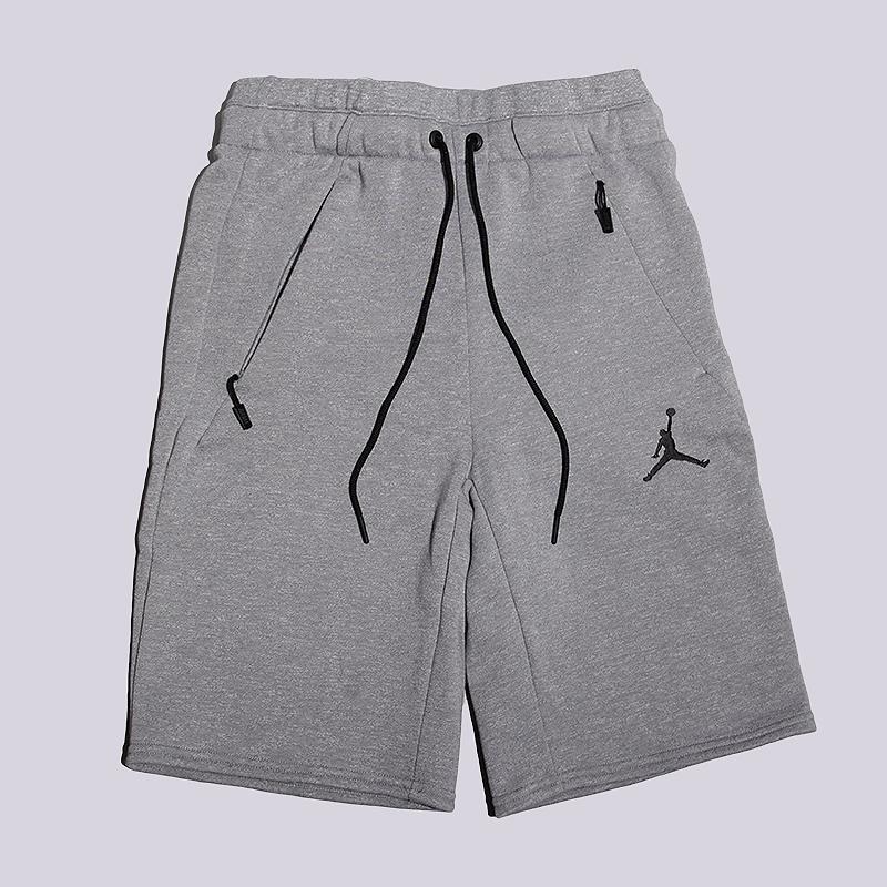 Шорты Jordan Icon Fleece ShortШорты<br>60% хлопок, 40% полиэстер<br><br>Цвет: Серый<br>Размеры US: S<br>Пол: Мужской