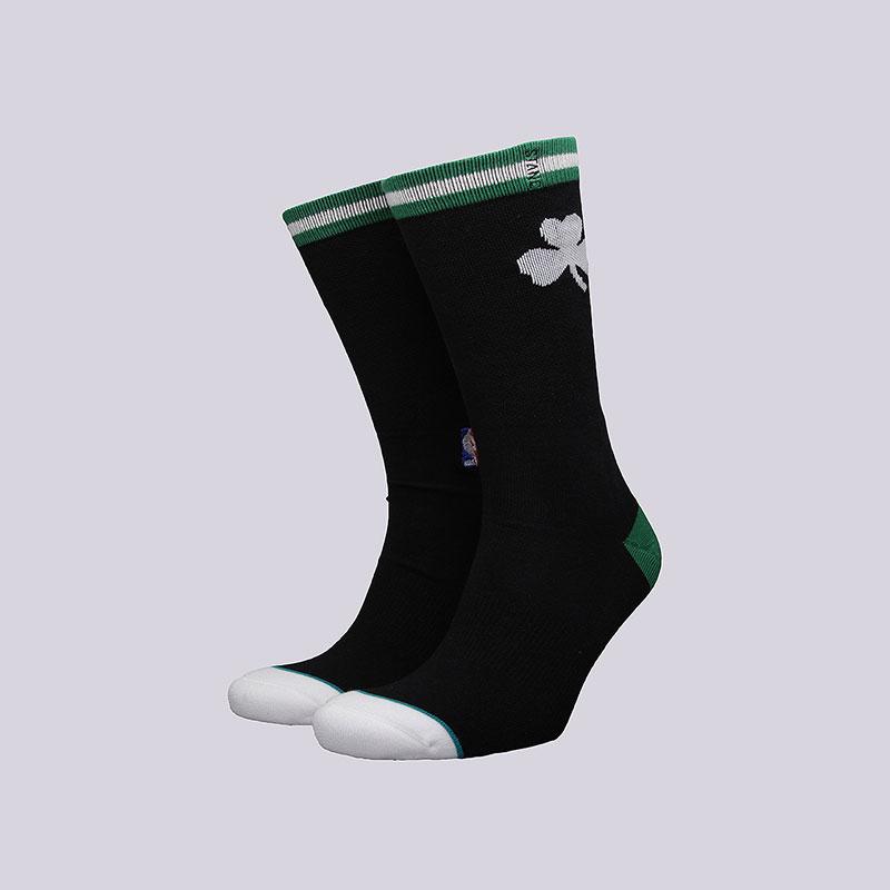 Носки Stance Celtics Arena LogoНоски<br>Хлопок, спандекс, нейлон<br><br>Цвет: Чёрный<br>Размеры : L<br>Пол: Мужской