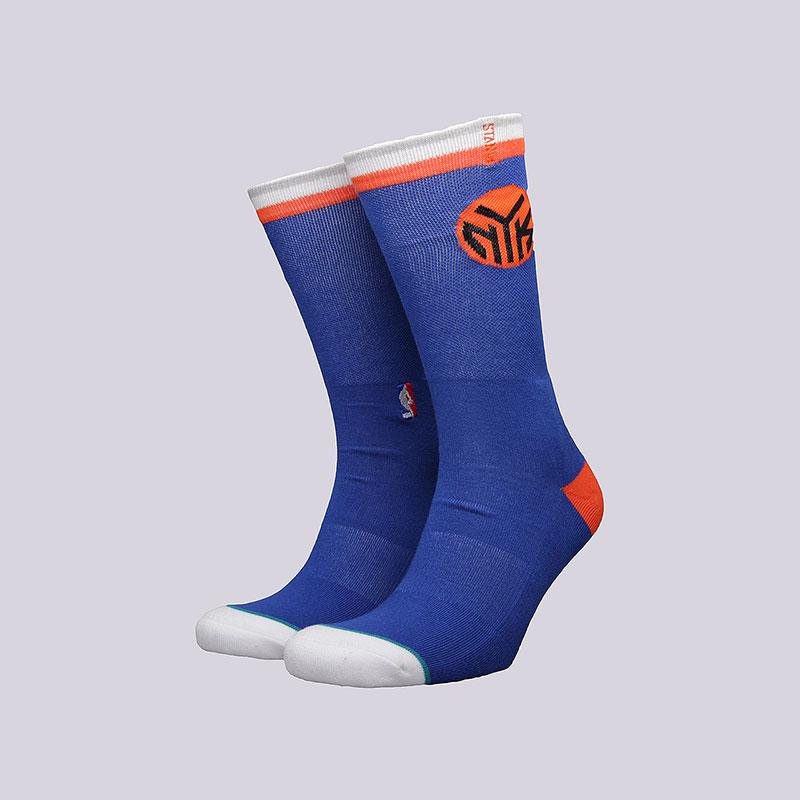 Носки Stance Knicks Arena LogoНоски<br>Хлопок, спандекс, нейлон<br><br>Цвет: Синий<br>Размеры : L<br>Пол: Мужской