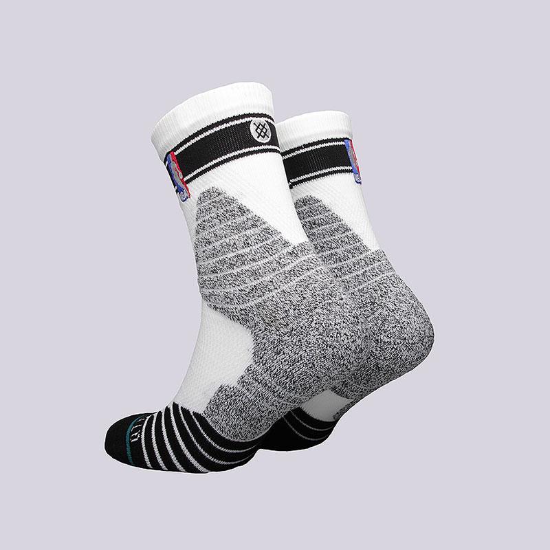 мужские белые  носки stance qtr bold stripe M359D6QTBS - цена, описание, фото 2