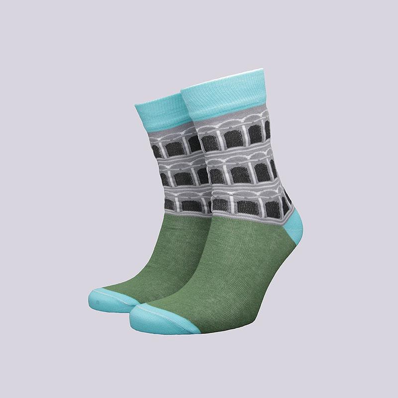 Носки Socksbox Green PisaНоски<br>Хлопок<br><br>Цвет: Зелёный<br>Размеры : 36-39<br>Пол: Мужской