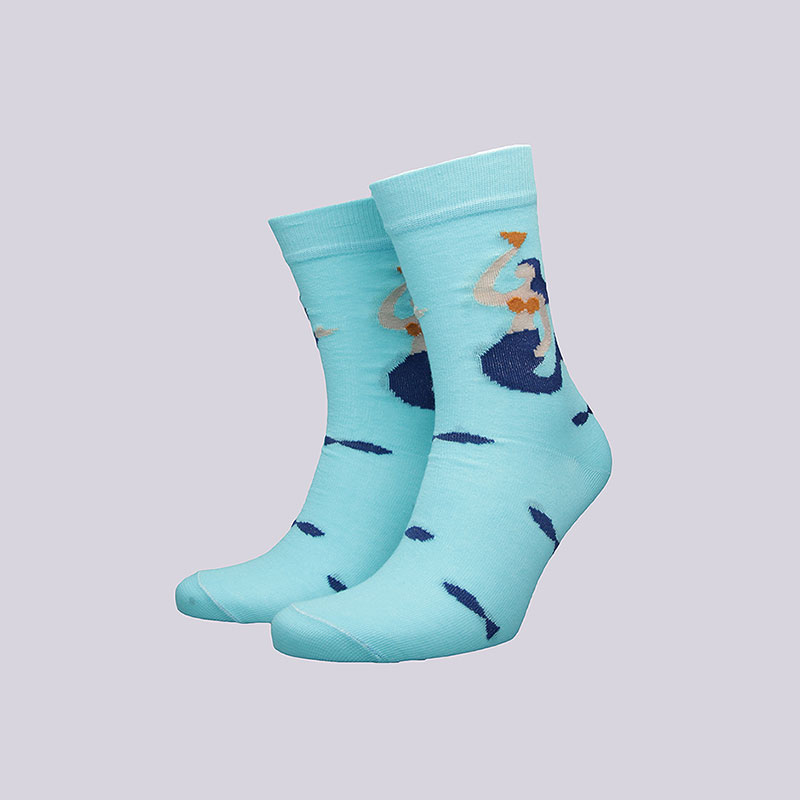 Носки Socksbox Blue AquaНоски<br>Хлопок<br><br>Цвет: Голубой<br>Размеры : 36-39<br>Пол: Мужской