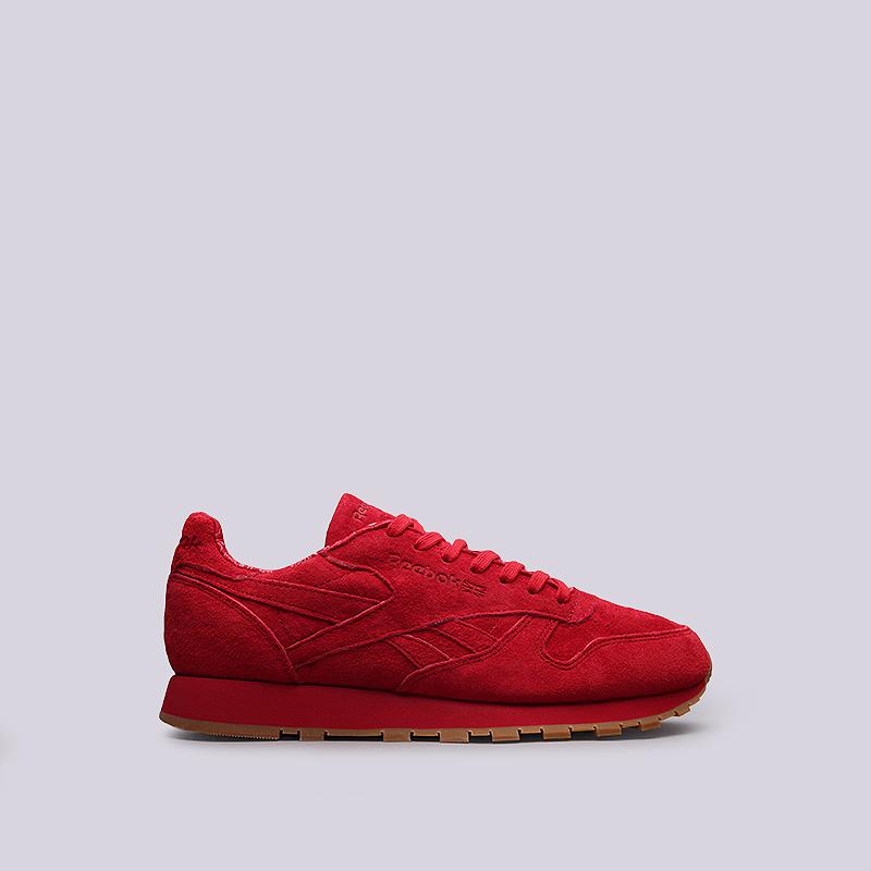 Кроссовки Reebok CL Leather TDCКроссовки lifestyle<br>кожа, текстиль, резина<br><br>Цвет: Красный<br>Размеры US: 9<br>Пол: Мужской