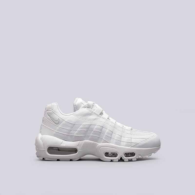 Кроссовки  Nike Sportswear WMNS Air Max 95Кроссовки lifestyle<br>Текстиль, синтетика, резина<br><br>Цвет: Белый<br>Размеры US: 6<br>Пол: Женский