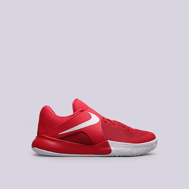 Кроссовки Nike Zoom LiveКроссовки баскетбольные<br>Текстиль, синтетика, резина<br><br>Цвет: Красный, белый<br>Размеры US: 9.5<br>Пол: Мужской