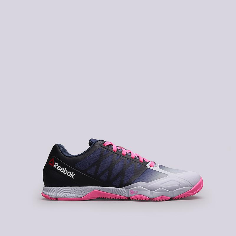 Кроссовки Reebok R Crossfit Speed TRКроссовки lifestyle<br>Текстиль, синтетика, резина<br><br>Цвет: Фиолетовый, белый<br>Размеры US: 7<br>Пол: Женский