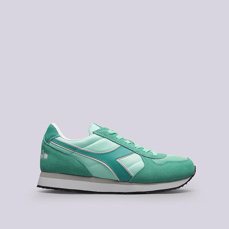 Кроссовки Diadora K-Run WКроссовки lifestyle<br>Кожа, текстиль, резина<br><br>Цвет: Зеленый<br>Размеры UK: 6.5<br>Пол: Женский