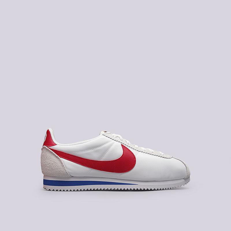 Кроссовки Nike Classic Cortez Nylon Prem QSКроссовки lifestyle<br>Текстиль, кожа, резина<br><br>Цвет: Белый<br>Размеры US: 9;11<br>Пол: Мужской