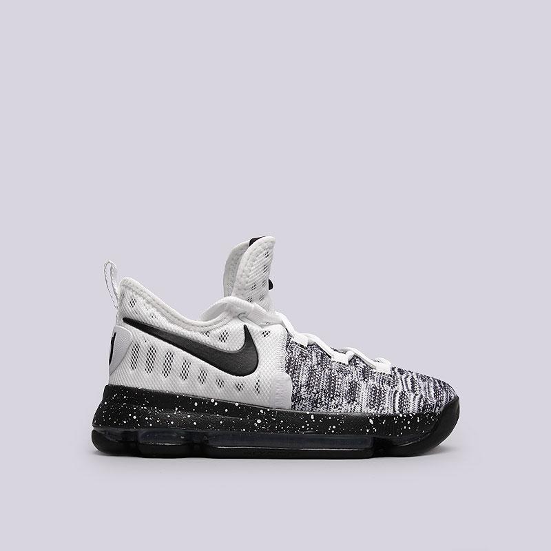 Кроссовки Nike Zoom KD9 (GS)Обувь детская<br>Текстиль, резина<br><br>Цвет: Белый, чёрный<br>Размеры US: 3.5Y;4Y<br>Пол: Детский