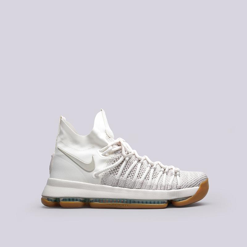 Кроссовки Nike Zoom KD 9 EliteКроссовки баскетбольные<br>Текстиль, резина<br><br>Цвет: Бежевый<br>Размеры US: 8;8.5;9;9.5;10;10.5;11<br>Пол: Мужской