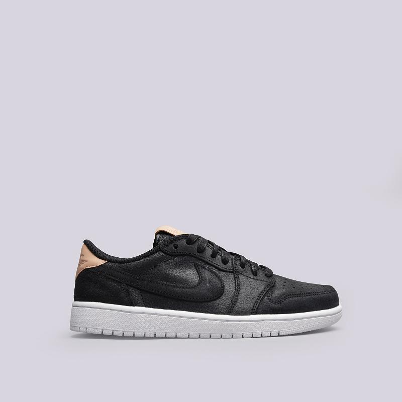 Кроссовки Jordan 1 Retro Low OG PRMКроссовки lifestyle<br>Кожа, текстиль, резина<br><br>Цвет: Черный<br>Размеры US: 8;8.5;9;10.5;11.5<br>Пол: Мужской