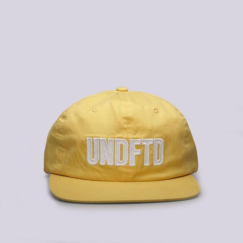 Кепка Undftd Applique Strapback CapКепки<br>Полиэстер<br><br>Цвет: Желтый<br>Размеры US: OS
