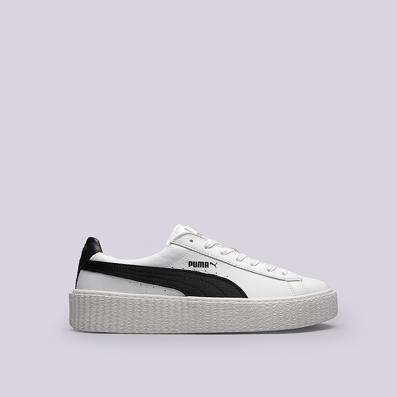 Кроссовки Puma Creeper White LeatherСланцы, балетки<br>Кожа, текстиль, резина<br><br>Цвет: Белый, черный<br>Размеры UK: 9;10<br>Пол: Мужской