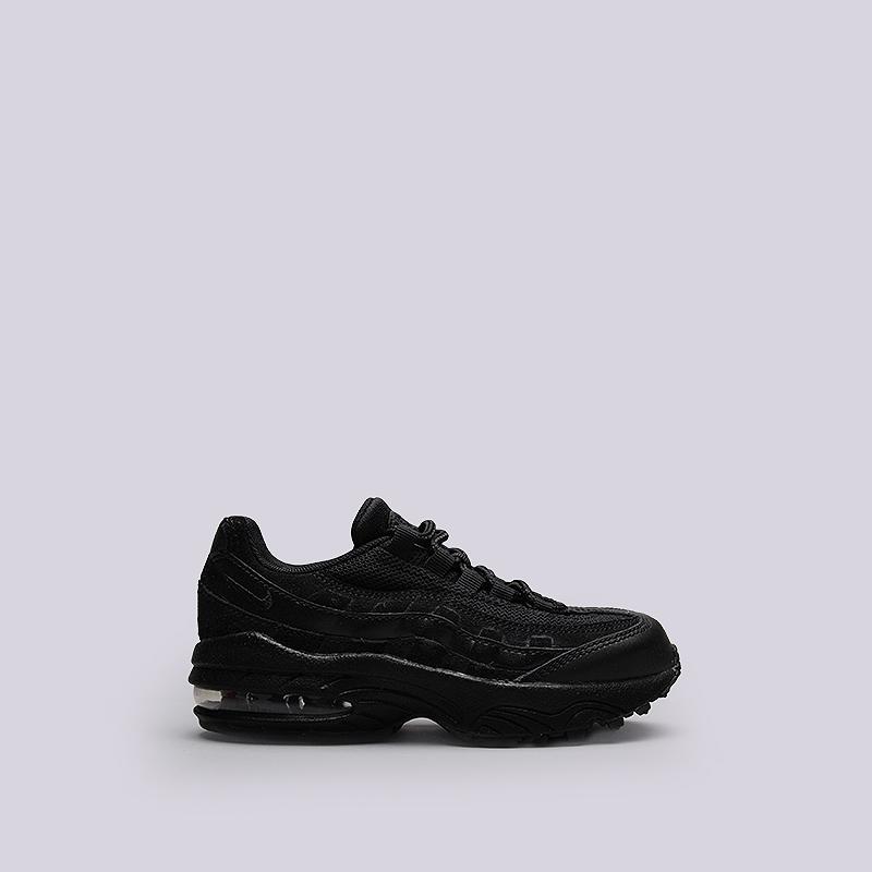 Кроссовки Nike Sportswear Air Max 95 (PS)Кроссовки lifestyle<br>Кожа, текстиль, резина<br><br>Цвет: Черный<br>Размеры US: 2.5Y<br>Пол: Детский