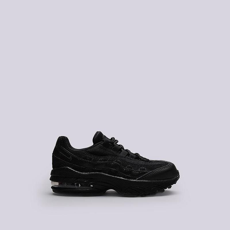 Кроссовки Nike Sportswear Air Max 95 (PS)Кроссовки lifestyle<br>Кожа, текстиль, резина<br><br>Цвет: Черный<br>Размеры US: 11C;11.5C;12C;12.5C;13C;13.5C;1Y;1.5Y;2Y<br>Пол: Детский