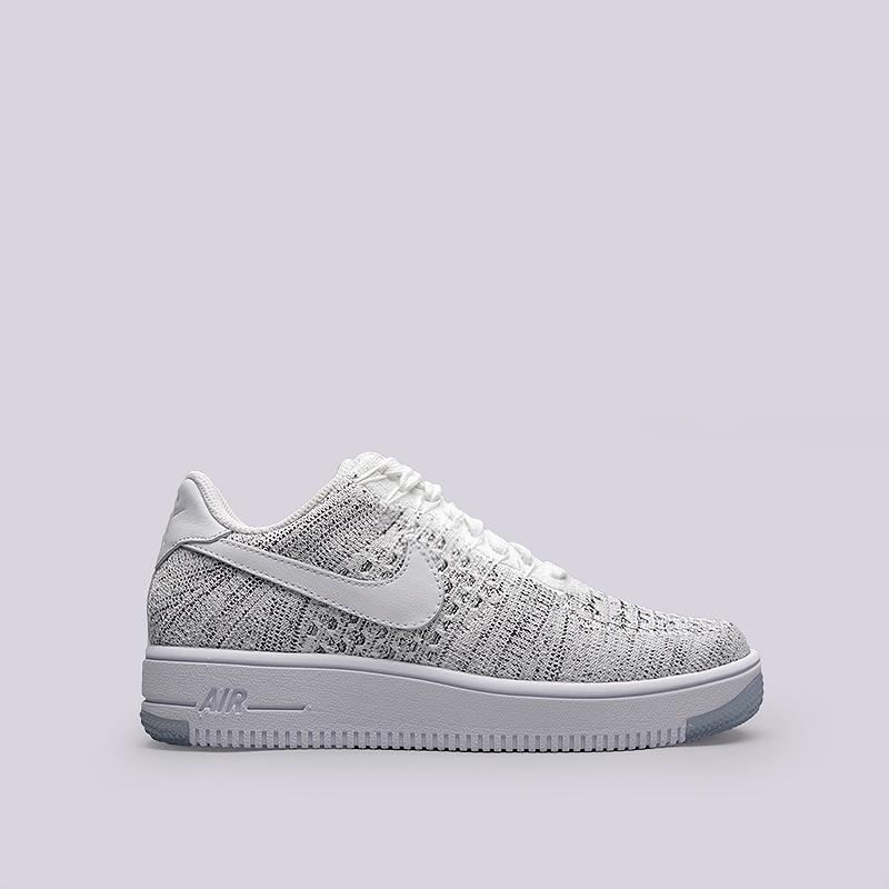 Кроссовки Nike Sportswear WMNS Air Force 1 Flyknit LowКроссовки lifestyle<br>Текстиль, резина<br><br>Цвет: Белый<br>Размеры US: 6.5<br>Пол: Женский