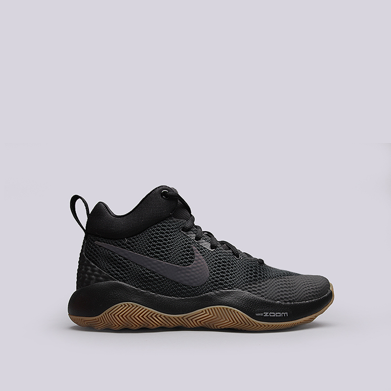 Кроссовки Nike Zoom RevКроссовки баскетбольные<br>Текстиль, пластик<br><br>Цвет: Черный<br>Размеры US: 8;8.5;9;9.5;10;10.5;11;12.5;13<br>Пол: Мужской
