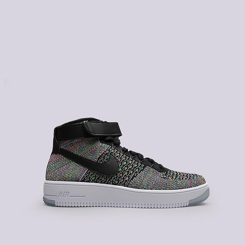 Кроссовки Nike Sportswear Air Force 1 Ultra Flyknut MidКроссовки lifestyle<br>Текстиль, резина<br><br>Цвет: Мультиколор<br>Размеры US: 8;8.5<br>Пол: Мужской