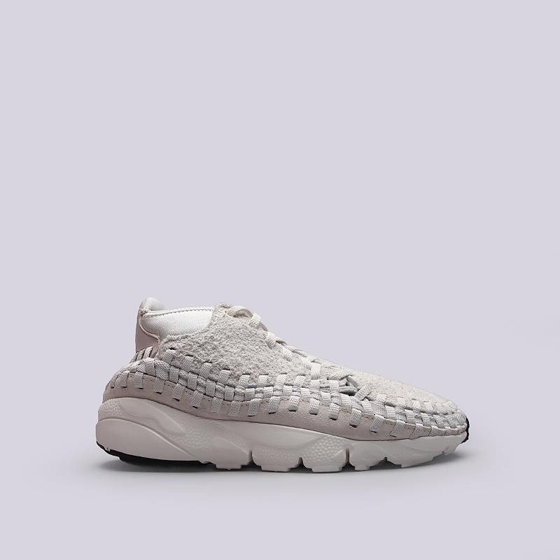 Кроссовки Nike Footscape Woven Chukka QSКроссовки lifestyle<br>Кожа, текстиль, резина<br><br>Цвет: Бежевый<br>Размеры US: 8;8.5;9;10;10.5;11;11.5;12<br>Пол: Мужской