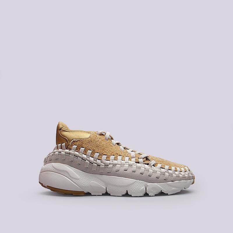 Кроссовки Nike Footscape Woven Chukka QSКроссовки lifestyle<br>Кожа, текстиль, резина<br><br>Цвет: Бежевый<br>Размеры US: 8;8.5;10.5;11;11.5<br>Пол: Мужской