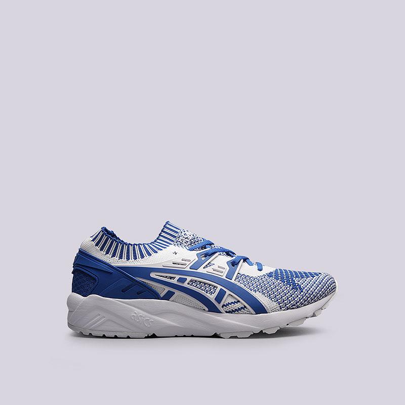 Кроссовки  ASICS Tiger Gel-Kayano Trainer KnitКроссовки lifestyle<br>Текстиль, резина<br><br>Цвет: Синий, белый<br>Размеры US: 8.5;10<br>Пол: Мужской