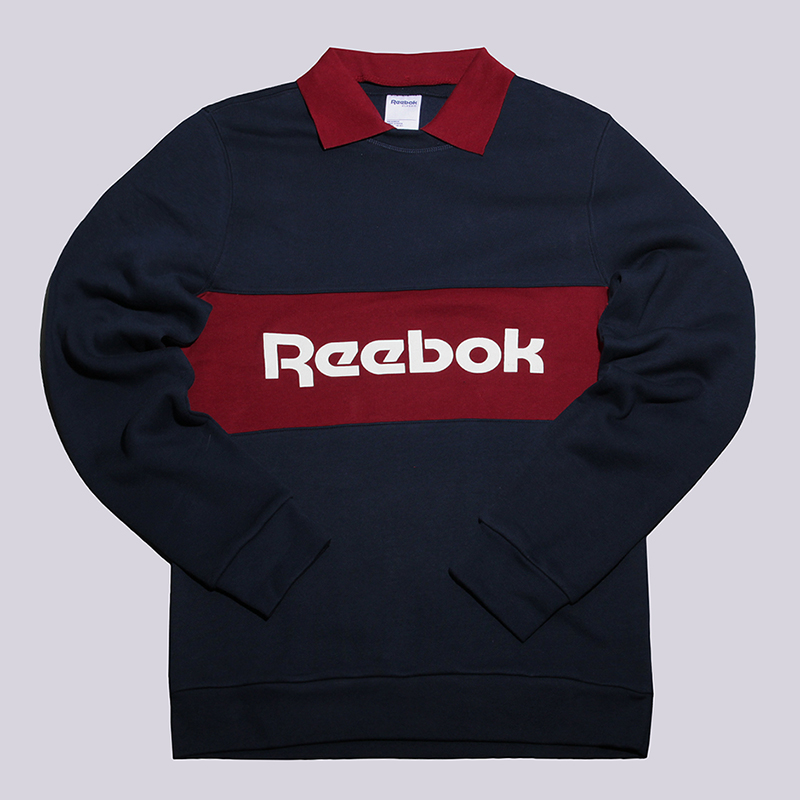 Толстовка Reebok Archive Stripe Collared Crew