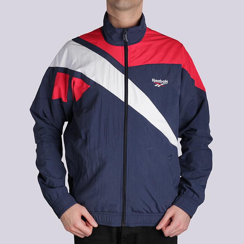 Куртка Reebok Archive Vector TracktopКуртки, пуховики<br>100% полиамид<br><br>Цвет: Синий, красный, белый<br>Размеры US: L<br>Пол: Мужской