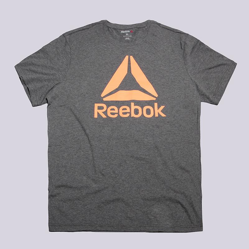 Футболка Reebok Stacked Logo CrewФутболки<br>60% хлопок, 40% полиэстер<br><br>Цвет: Серый<br>Размеры US: XL<br>Пол: Мужской