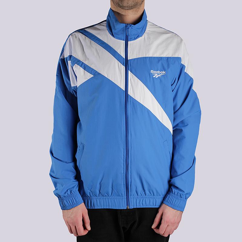 Куртка Reebok Archive Vector TracktopКуртки, пуховики<br>100% полиэстер<br><br>Цвет: Голубой<br>Размеры US: L<br>Пол: Мужской