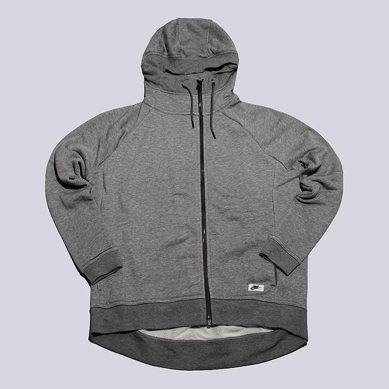 Толстовка Nike Sportswear Modern CapeТолстовки свитера<br>52% хлопок, 29% полиэстер, 19% вискоза<br><br>Цвет: Серый<br>Размеры US: S;L<br>Пол: Женский