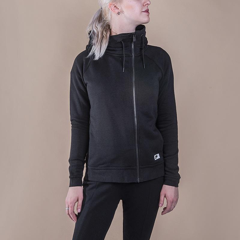 Толстовка Nike Sportswear Modern CapeТолстовки свитера<br>52% хлопок, 29% полиэстер, 19% вискоза<br><br>Цвет: Черный<br>Размеры US: S;L<br>Пол: Женский