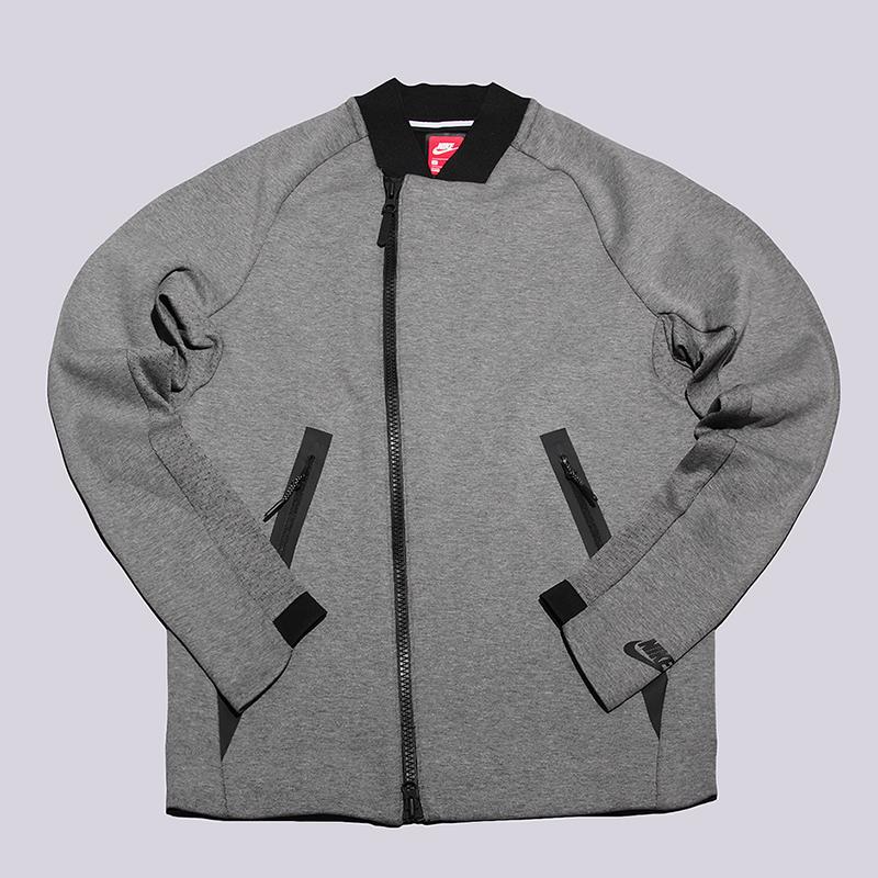 Толстовка Nike Tech Fleece JacketТолстовки свитера<br>66% хлопок, 34% полиэстер<br><br>Цвет: Серый<br>Размеры US: L;XL<br>Пол: Мужской