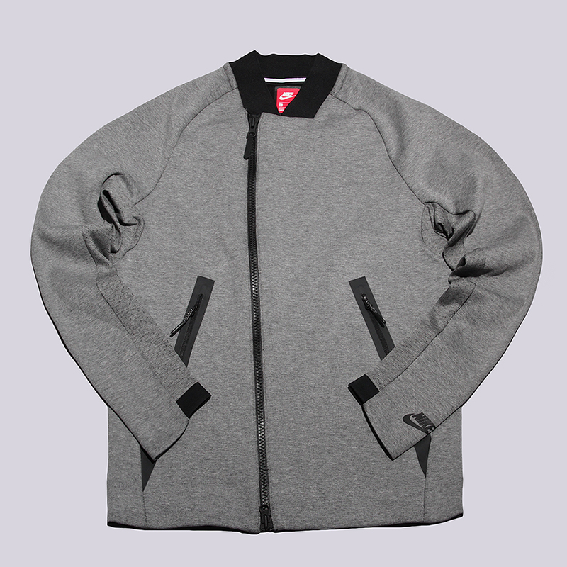 Толстовка Nike Sportswear Tech Fleece JacketТолстовки свитера<br>66% хлопок, 34% полиэстер<br><br>Цвет: Серый<br>Размеры US: M;XL<br>Пол: Мужской