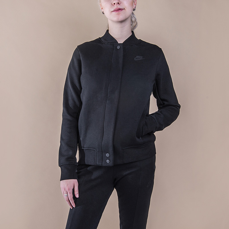 Толстовка Nike Sportswear Tech Fleece Destroyer JacketТолстовки свитера<br>66% хлопок, 34% полиэстер<br><br>Цвет: Черный<br>Размеры US: S;M;L<br>Пол: Женский